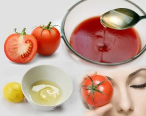 Tomato Puree And Lemon Juice for getting the beautiful neck