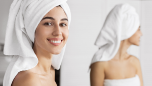 Wrapping Wet Hair In Towel
