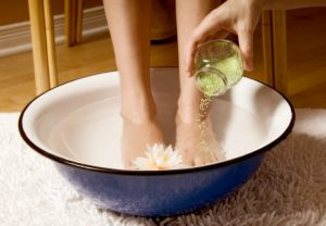 Feet Soaking Process