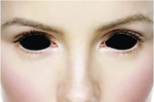 Black Sclera Contact Lenses for Hallowen