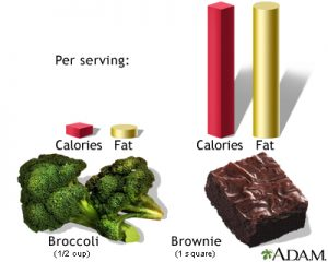 calories and fat
